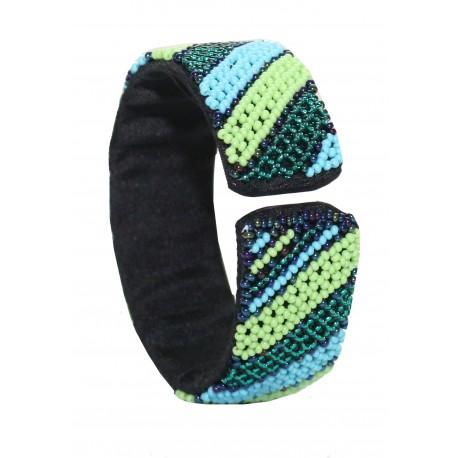 Zulu Beaded Bracelet - Green