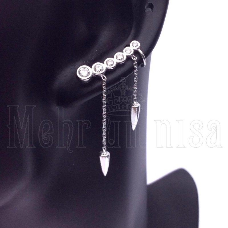 fashion ear rock girl earring trendy earrings cuff stylish punk rhinestone wrap women korean butterfly