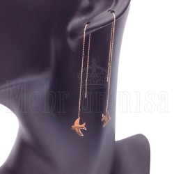 14 Karat Gold Motif Earrings