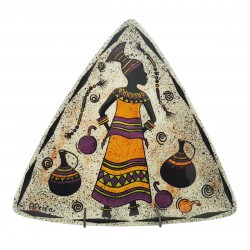 South African Decorative Triangle Plate
