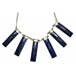 Afghani Contemporary Lapis Lazuli Silver Necklace