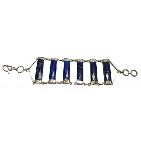 Afghani contemporary Lapis Lazuli Silver Bracelet