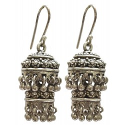 Sterling Silver Jhumki Earrings