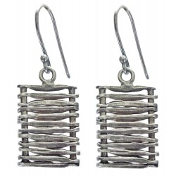 Sterling Silver Mat Earrings