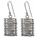 Sterling Silver Mat Earrings