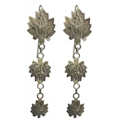 Kashmiri Sterling Silver Triple Chinar Earrings