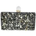 Black Rectangular Box Clutch Evening Bag