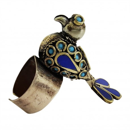Tribal Afghani Bird Ring (Adjustable)