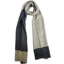 Mehrunnisa Handcrafted Reversible Cashmere 100% Pure Wool Muffler – Unisex (GAR1978)
