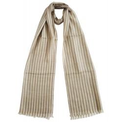 Mehrunnisa Handcrafted Pure Cashmere Pashmina Wool Muffler / Scarf Wrap – Unisex (GAR2077)