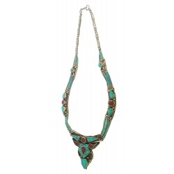 Afghani Antique Turquoise Necklace