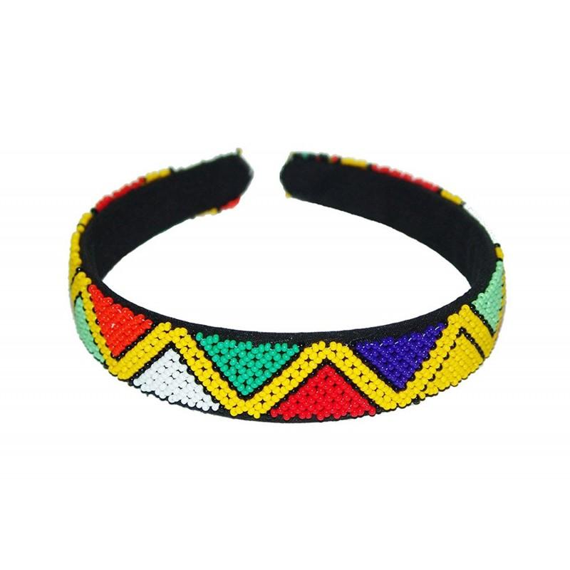 Zulu Beaded Hair band - mehrunnisa d41acf0df01