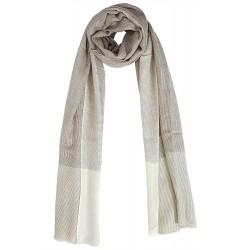 Mehrunnisa Check Design Pure Wool Cashmere Stole Wrap - Unisex (GAR1923)