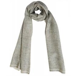Mehrunnisa Handcrafted Premium 100% Pure Wool Zig Zag / Plain Muffler (GAR1962)