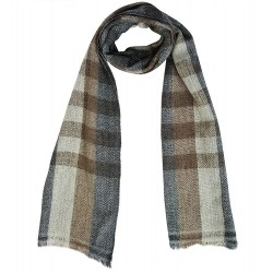 Mehrunnisa Handcrafted Premium 100% Pure Wool Check Muffler (GAR1963)