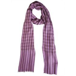 Mehrunnisa Check Pure Wool Cashmere Muffler / Scarf Wrap - Unisex (GAR1999)