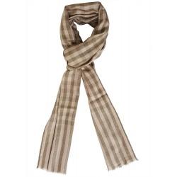 Mehrunnisa Check Pure Wool Cashmere Muffler / Scarf Wrap - Unisex (GAR2000)