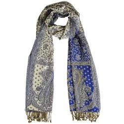 Mehrunnisa Reversible Double Sided Woolen Stole / Large Scarf Wrap – Unisex (GAR2041)