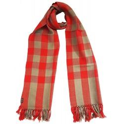 Mehrunnisa Handcrafted Premium Pure Wool Check Design Muffler / Scarf – Unisex (GAR2051)