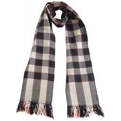 Mehrunnisa Handcrafted Premium Pure Wool Check Design Muffler / Scarf – Unisex (GAR2052)