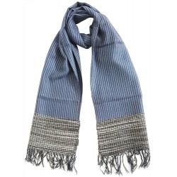 Mehrunnisa Handcrafted Premium Pure Wool Check Design Muffler / Scarf – Unisex (GAR2053)
