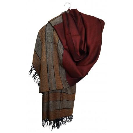 Mehrunnisa Jamawar Kani 100% Pure Wool Shawl Wrap From Kashmir (GAR2147)