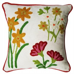 Mehrunnisa Exclusive Kashmiri Hand Embroidered Cushion Cover (HOM1574)