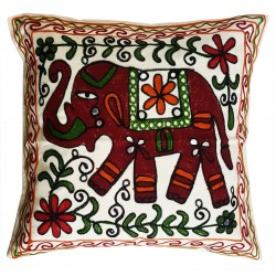Mehrunnisa Exclusive Rajasthani Multi-Colour Thread Work Cushion Cover (HOM2020)