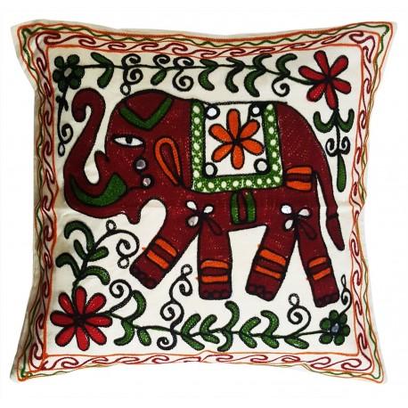 Mehrunnisa Exclusive Rajasthani Multi-Colour Thread Work Cushion Cover (HOM2019)