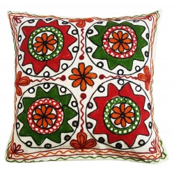 Mehrunnisa Exclusive Rajasthani Multi-Colour Thread Work Cushion Cover (HOM2021)