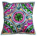 Mehrunnisa Exclusive Rajasthani Multi-Colour Thread Work Cushion Cover (HOM2022)