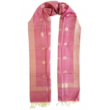 Mehrunnisa Handcrafted Banarasi Silk Cotton Stole With Zari Buti – Unisex (GAR2213)