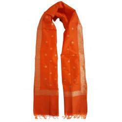 Mehrunnisa Handcrafted Banarasi Silk Cotton Stole With Zari Buti – Unisex (GAR2215)