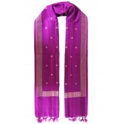 Mehrunnisa Handcrafted Banarasi Silk Cotton Stole With Zari Buti – Unisex (GAR2216)