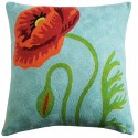 """Mehrunnisa (16""""X16"""") Exclusive Hand Embroidered Crewel Work Cushion Cover From Kashmir (HOM2263)"""