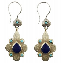 Mehrunnisa Afghani Lapiz Lazuli Earrings For Girls (JWL1614)