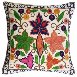 Mehrunnisa Exclusive Kashmiri Hand Embroidered Cushion Cover (HOM2106)
