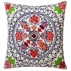Mehrunnisa Exclusive Kashmiri Hand Embroidered Cushion Cover (HOM2105)