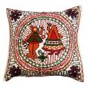 Mehrunnisa Exclusive Rajasthani Multi-Colour Thread Work Cushion Cover (HOM2031)