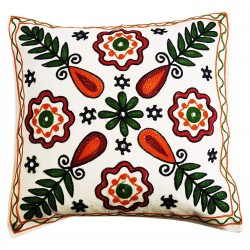Mehrunnisa Exclusive Rajasthani Multi-Colour Thread Work Cushion Cover (HOM2030)