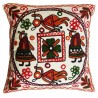 Mehrunnisa Exclusive Rajasthani Multi-Colour Thread Work Cushion Cover (HOM2029)