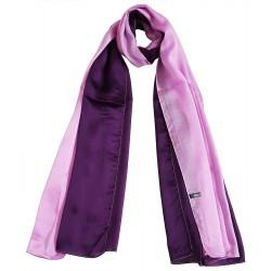 Mehrunnisa 100% Pure Silk Double Shaded Scarf/Neck Wrap – Unisex (GAR2471)