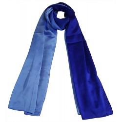Mehrunnisa 100% Pure Silk Double Shaded Scarf/Neck Wrap – Unisex (GAR2470)