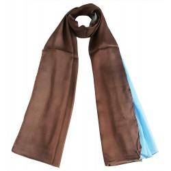 Mehrunnisa 100% Pure Silk Double Shaded Scarf/Neck Wrap – Unisex (GAR2469)
