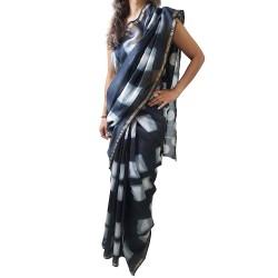 Mehrunnisa BAGRU MAHESHWARI Cotton Silk Red Saree With Blouse Piece From Jaipur (GAR2455)
