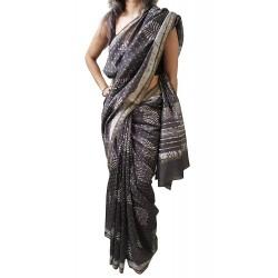 Mehrunnisa BAGRU MAHESHWARI Cotton Silk Red Saree With Blouse Piece From Jaipur (GAR2454)