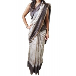 Mehrunnisa BAGRU MAHESHWARI Cotton Silk Red Saree With Blouse Piece From Jaipur (GAR2453)