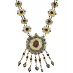 Mehrunnisa Original Afghani Tribal Vintage Long Turkmen Necklace (JWL2062)