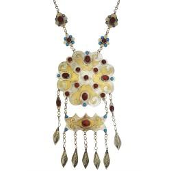 Mehrunnisa Original Afghani Tribal Vintage Turkmen Necklace (JWL2061)