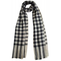 Mehrunnisa Handcrafted Pure Cashmere Pashmina Wool Stole Wrap – Unisex (GAR2111, Black)